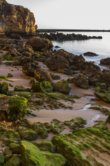 Landscape view of the beaches near Ferragudo, Portugal.