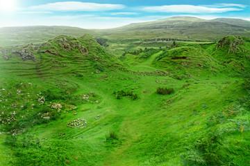 Fairy glen in skye island scotland