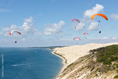Foto Spatwand Luchtsport Parapente dune du Pilat