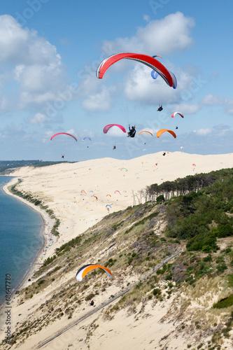Poster Luchtsport Parapente dune du Pilat