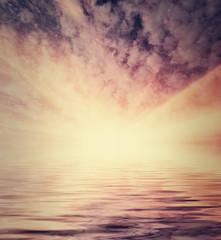 Instagram style sea sunset image