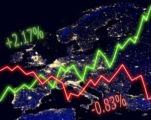 Europe Map Stock Market