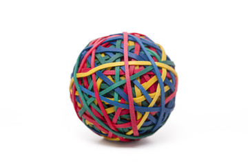 colorful elastic rubber band ball