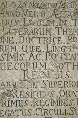 Gravestone ancient with inscription