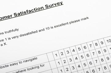Customer Satisfaction Survey, blank