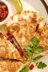Quesadilla with vegetables.