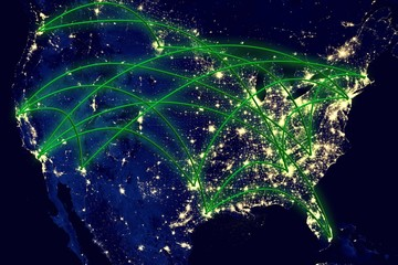 United States Network Map