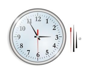 A big wall chrome clock vector