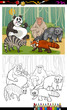 funny animals cartoon coloring book