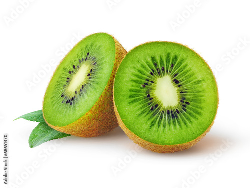 In de dag Vruchten Kiwi fruit isolated on white