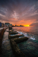 Havana Waterfront Sunset