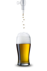 Beer Pour Into Glass