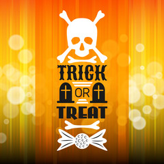 Halloween party poster. Typography letters font type