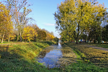 Central Park of Lutsk city in early autumn