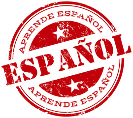 learn spanish stamp