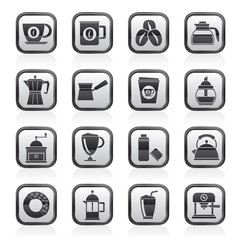 different types of coffee industry icons- vector icon set