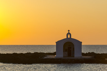 Church Silhouette In Greece