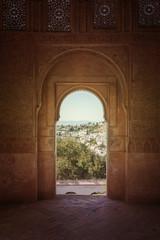Granada Alhambra windows Spain