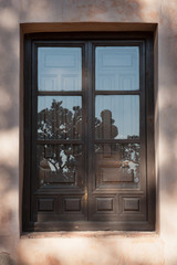 Wooden window old house Granada Spain