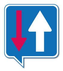 Logo priorité circulation.