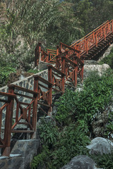 Stairway mountain park Alicante Spain
