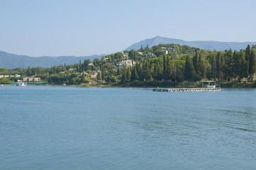 Coast of Corfu island in Gouvia, Greece