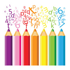 Lápis com letras