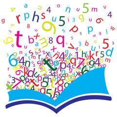 Livro com letras
