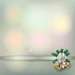 Abstract grunge background with Christmas bells