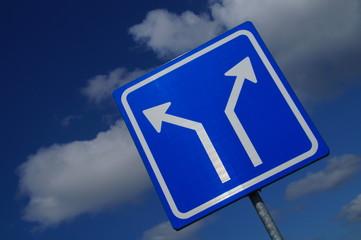 Two Way Traffic Sign- angle