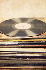 Vinyl LP auf Platten Covern mit Hintergrund Textur