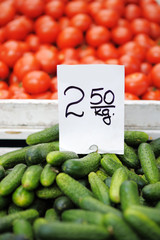 Fresh vegetables at farmers market