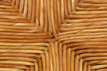 woven natural wicker background detail