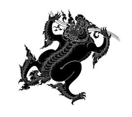 asian art lion