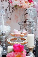 Delicious wedding sweet table
