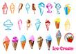 Ice cream dessert food set