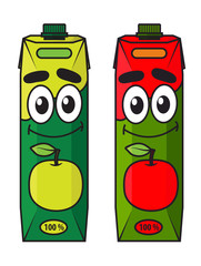 Cartoon apple juice package
