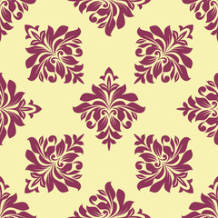 Crimson floral seamless pattern