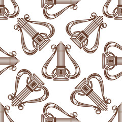 Seamless musical harp pattern