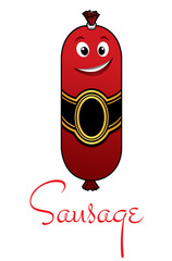 Cartoon meaty sausage