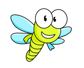 Cartoon dragonfly character