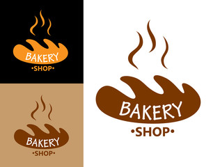 Bakery food symbol with bread