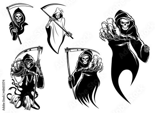 Zdjęcia na płótnie, fototapety, obrazy : Death skeleton characters