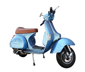 Classic scooter isolated on a white background