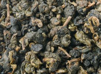 Heap of Chinese green tea