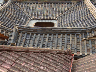 Old rooftops of Korean traditional houses