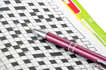 Pen and crossword