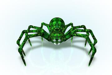 Green Circuit Board Spider