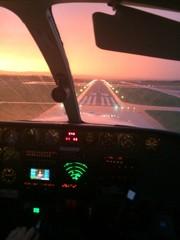 aircraft cockpit landing