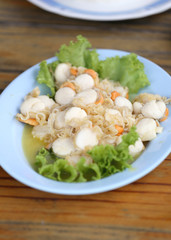 stir fried scallop with butter.